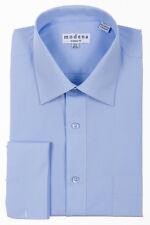 Modena French Cuff Dress Shirt Regular Sizes 32/33 34/35 sleeve sizes Pwdr Blue