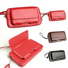 Ladies Men's Genuine Leather Zipper Chain Coin Purse Wallet ID Card Key Holder