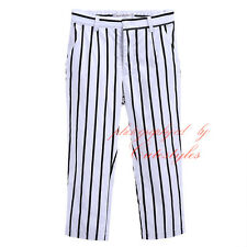 Boys Zebra Trousers Kids Childrens Black & White Striped Pants Age 2-11 Years