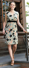 New Pepperberry size 10 18 CV RC SC Oriental Floral Print Off White Shift Dress