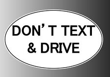 Don't text and drive sticker decal inside window static cling magnet