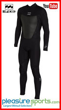 Billabong Men's Wetsuit Foil 4/3mm 403 Foil Full Wetsuit Black Back Zip Surfing