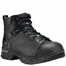 "Timberland Pro Boots Mens Endurance 6"" Steel Toe Black Work Boot 1067A"