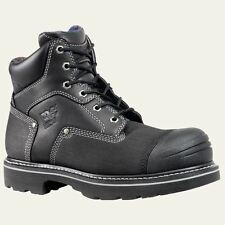 "Timberland PRO Boots Mens Steel Trax 6"" Steel Toe Black Work Boot 53525"