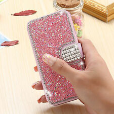 Luxury Diamond Bling Flip Leather Wallet Stand Cover Case for iPhone 6 6S Plus