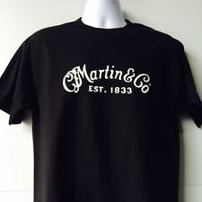 Martin & Company Guitar Logo  black short sleeve T-Shirt