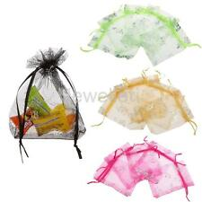 50 Butterfly Organza Jewelry Gift Candy Pouch Bags Wedding Party Favour 9 x 12cm
