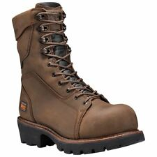 """Timberland PRO Boots Mens 9"""" Rip Saw Comp Toe Logger Waterproof & Insulated"""