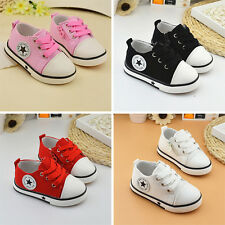Kids Boys Girls Sports Running Shoes Baby Infant Casual Plimsolls All Size Stock