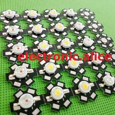 Hot 10-100 pcs 1W 3W High Power red/green/Blue/Royal blue LED with 20mm star pcb