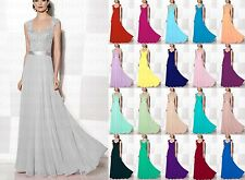 New Arrival Cap Sleeve Bridesmaid Dress Floor Length Formal Prom Gowns Size 6-18