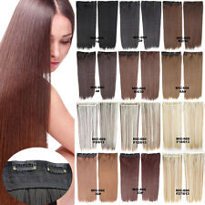 24''/60cm Clip In Long Straight Synthetic 5 Clips Hairpiece Hair Extensions