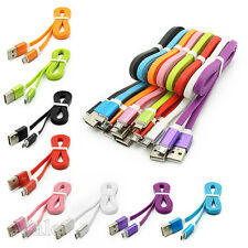 Universal Aluminum Micro USB Data&Sync Flat Charger Charging Cable For CellPhone