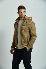 XRAY® DISTRESSED COTTON JACKET with Hoodie Rugged Stylish Men's Jacket