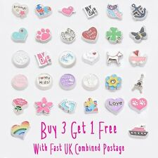 Floating Charms For Living Memory Locket Necklace Bracelet Keychain Charm