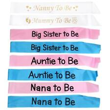 Baby Shower Sash Party Decoration Mom To Be /Grandma /Auntie/ Nanny / Big Sister