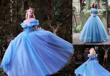 Disney Cinderella Dress Girl Princess Formal Party Ball Gown Bridesmaid Costume