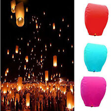 Chinese Wishing Lantern Paper Sky Flying Float Party Wedding Lamp 9 Color Pick