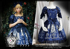 lolita fairy Princess diary Tangled Rapunzel Dolly evening dress OP JI3013 BU
