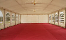 4x8m marquee lining: ivory or blackout roof, curtains/walls, swag linings