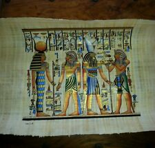 EGYPTIAN PAINTING ON PAPYRUS PAPER FANTASTIC DETAIL
