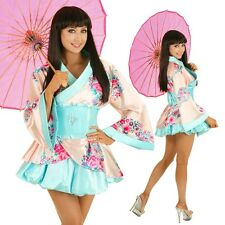 Womens Japanese Kimono Asian Cosplay Fancy Dress Up Hens Party Outfit Costume