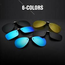 Mens Polarized Clip On Flip Up Sunglasses Rectangular Mirrored Clip-on Driving