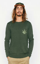 AFENDS HI CREW KNIT JUMPER GREEN S M L XL DOPE HIGH SWEATER UNISEX WEED WINTER