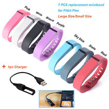 7pcs Replacement Clasp Wrist Band +1 Charger For Fitbit Flex Bracelet No Tracker