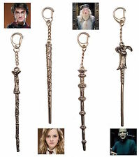 Harry Potter Wand Keyring Keychain Hermione Dumbledore Voldemort Metal Wand Gift