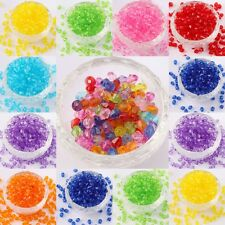 Wholesale  500 pcs Acrylic Crystal Bicone Spacer Beads Findings 6mm