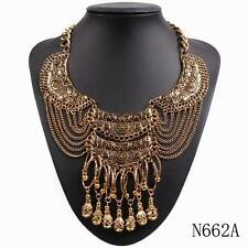2016 new chunky statement chain pendant tibetan alloy vintage necklace for women