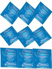 100 PASANTE Ribbed Condoms,Ribbed Textured Surface improve Sexual Stimulation