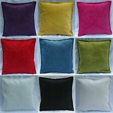 Cushion Cover Plain Chenille White Black Cream Pink Teal Lime Yellow Orange Red