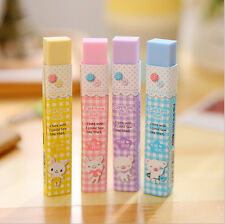 Students Stripe Cute Animal Pattern Eraser Rubber Stationery For Kids