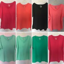 Plus Size 4X Shirt Top Tee JMS Just My Size Rasberry Pink Orange Green New