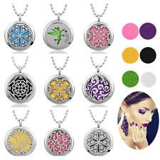 30mm Fragrance Aromatherapy Diffuser Oils Essential Pendant Necklace 6 Pads