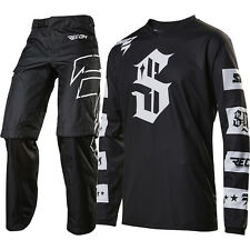 Shift 2017 NEW Mx Recon Checkers Jersey Over Boot Pants Black Motocross Gear Set