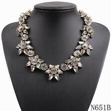 brand crystal necklace pendant chunky choker collar statement necklace jewelry