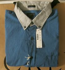 NWT J.Crew Mens Slim Button Down Shirt In Blue Grey Colorblock Sizes L,XL