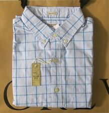 NWT J.Crew Mens Slim Washed Shirt In Open Tattersall Bright Surf Sizes XS,S,M,XL