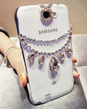 For Mobile Phone Fashion Clear Rhinestones Diamond Bling Crystal Hard Cover Case