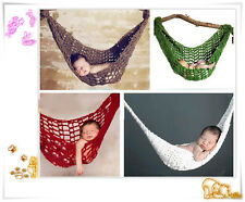 Newborn Baby Girl&Boy Crochet Knit Costume Photo Hammock Photography Prop Outfit