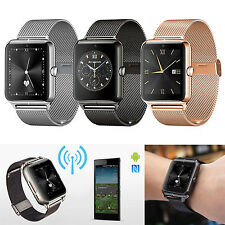 Stainless Steel Bluetooth NFC Smart Wrist Watch SIM TF Card Cell Phone Hand-free