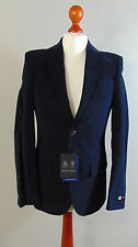 AUSTIN REED Mens Blue Brushed Cotton Suit Jacket NEW