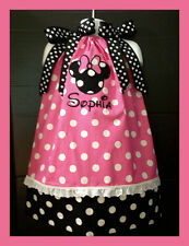 Custom Minnie Mouse center Applique DRESS NAME 6M 24M 2T 3T 4 5 6  Polka dots