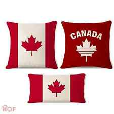Decorative Throw Pillow Case Canada Leaf Flag HEAVY WEIGHT FABRIC Cushion Cover