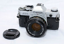 Canon AT-1 Film Camera + FD 50mm f/1.8 Lens- Excellent Condition