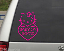 Hello Kitty Baby On Board Car Window Vinyl Decal Sticker 5 inches
