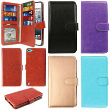 For Apple iPod Touch 5 5th/ 6 6th Gen Wallet Card Holder TPU Silicone Case Cover